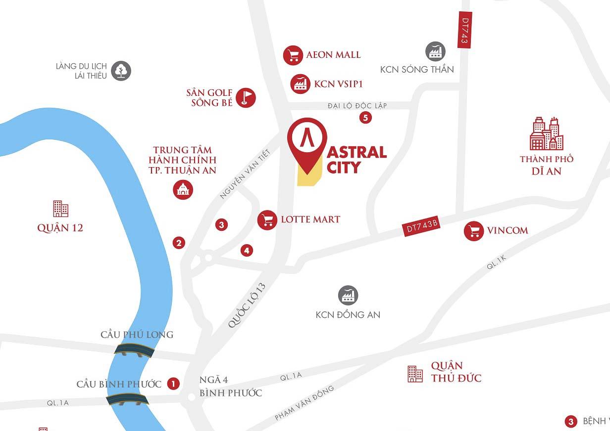 Vị trí dự án Astral City